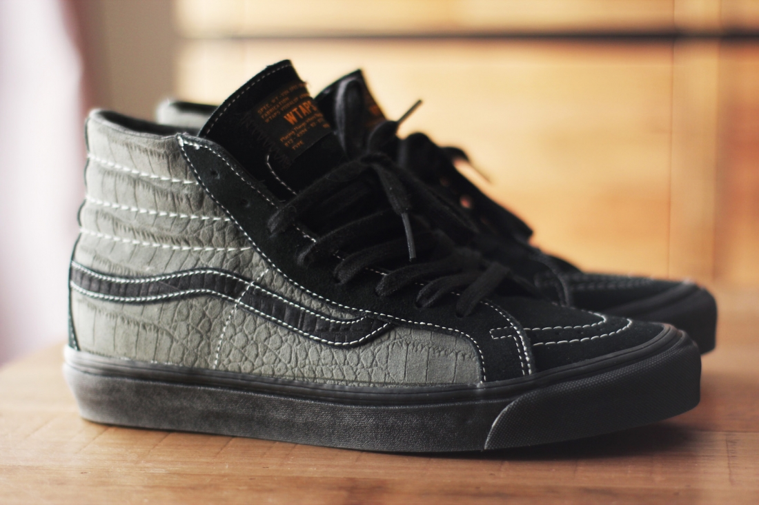 b10f519be82 WTAPS x Vans Vault Sk8 Hi OG LX Grey Croc — strictly waffles.