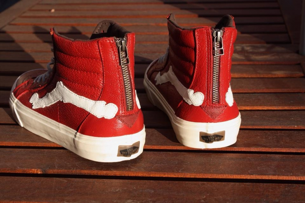 """DeBlends 000"" Custom CA Sk8 HI Zip by Riley DeBence"
