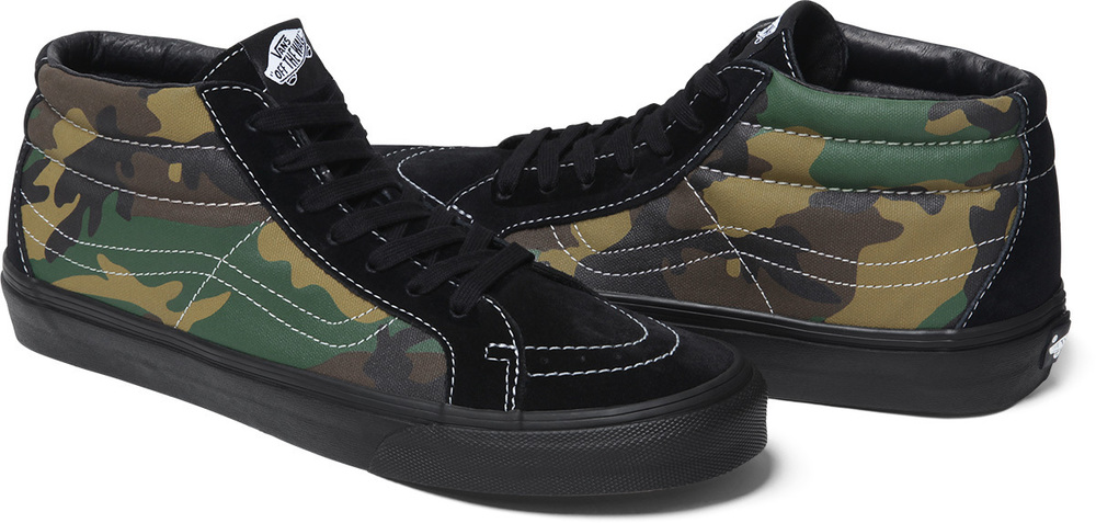 Supreme x Vans Sk8 Mid and Old Skool Pro Camo Pack