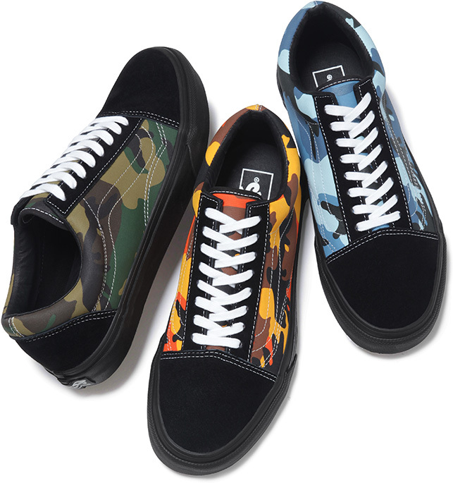 440751cba66dbd Supreme x Vans Sk8 Mid and Old Skool Pro Camo Pack