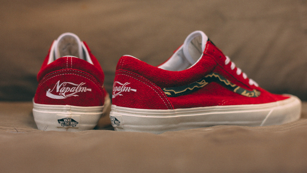 """Enjoy Napalm"" Old Skool Tiger Stripe Customs by Mr. SBTG"