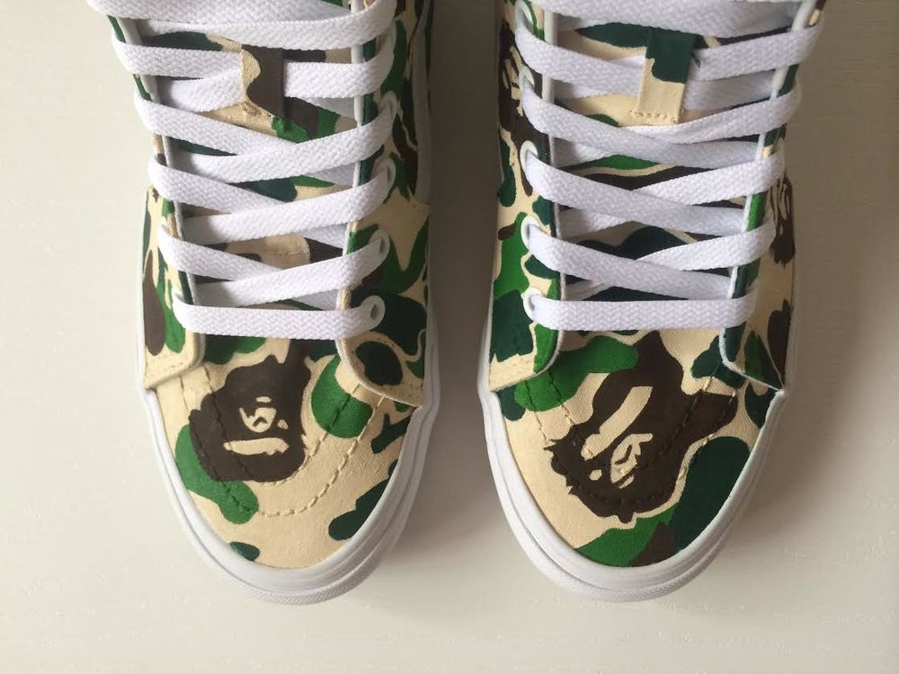 01b1020d3c28cd Custom BAPE Sk8 Hi by Xtian Chavez — strictly waffles.
