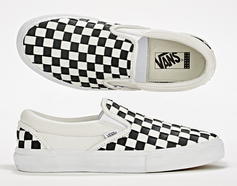 2b6c7563193 vans classic pro 50th black and white checkerboard slip on shoes ...
