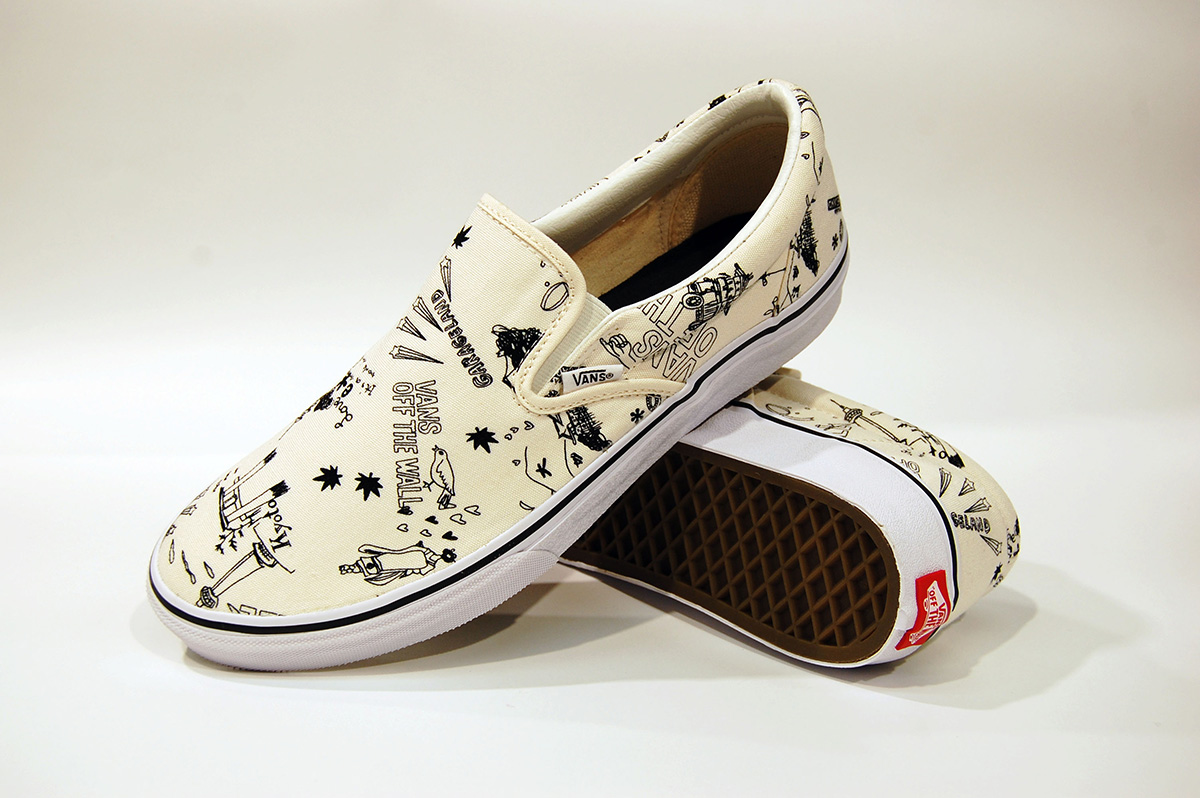 4e7befc0faca63 design studio Garageland x Vans Slip On and Era JP
