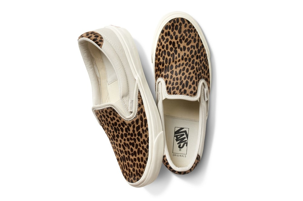 Vans Vault OG Slip On 59 and OG Sk8 Hi LX Animal Print