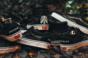 Custom Vans By SBTG Anarchy Chaos Sk8 Hi And Old Skool For Cover Crossover