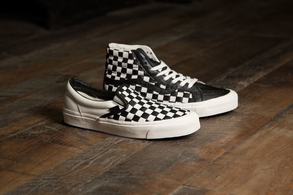 "Vans 50th Anniversary Vault OG Sk8 Hi and OG Slip On LX and Backpack ""Checkered Past"""