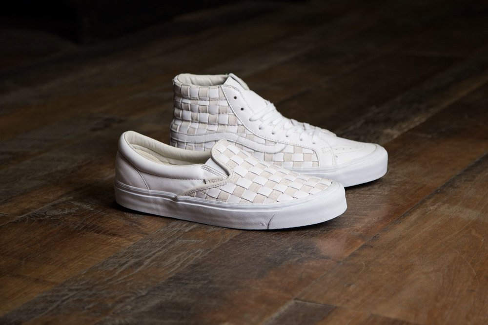 vans vault classic woven slip on lx 50th checkerboard & white