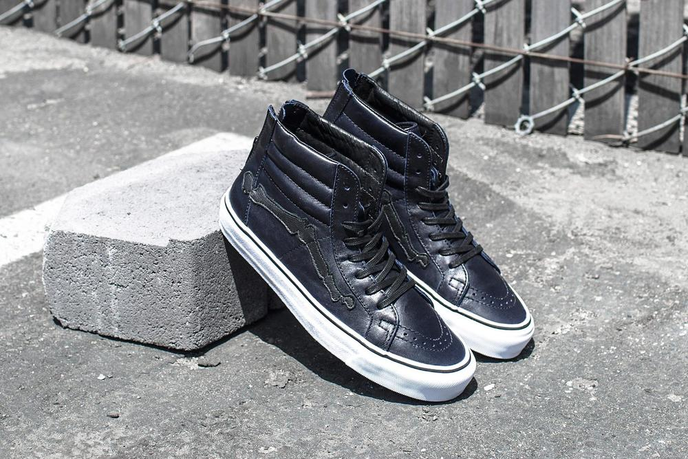 "BLENDS x Vans Vault Sk8 Hi Zip LX ""Peacoat"" - Exclusive Photos"
