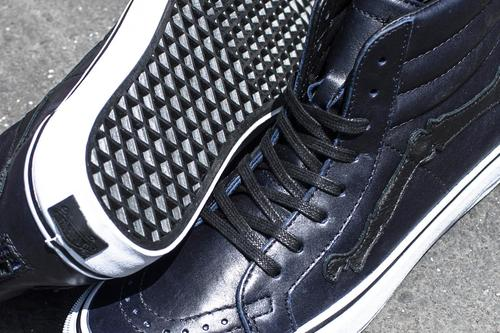 6939e30a8a The leather chosen is the same type of motorcycle jacket leather used on  the black white Sk8 Hi and Old Skool Zip LX from previous releases.