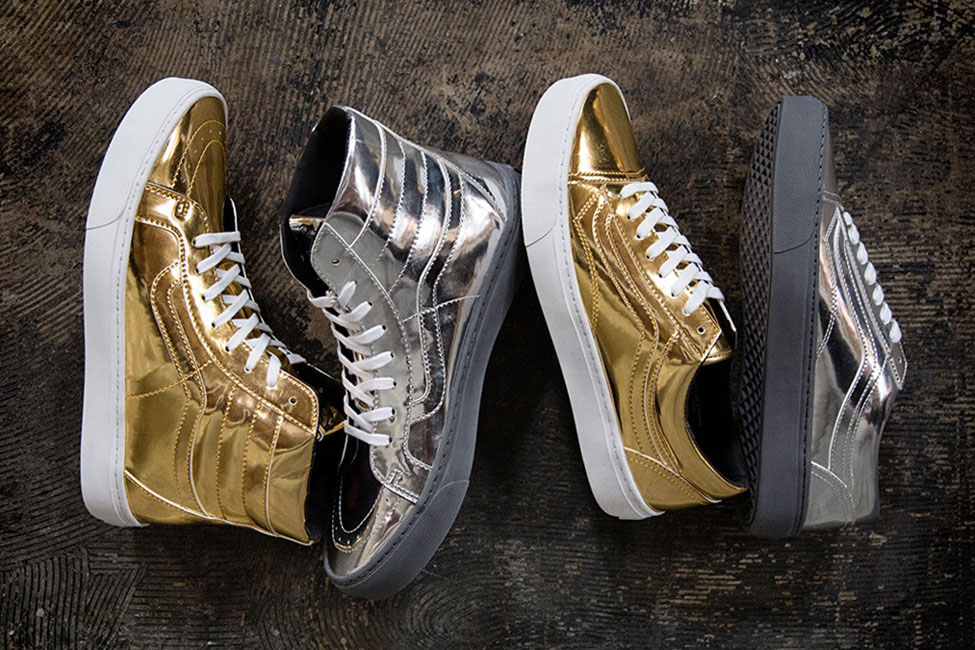 88eb62bc987 Vans Old Skool and Sk8 Hi  Metallic  for Foot Locker — strictly waffles.