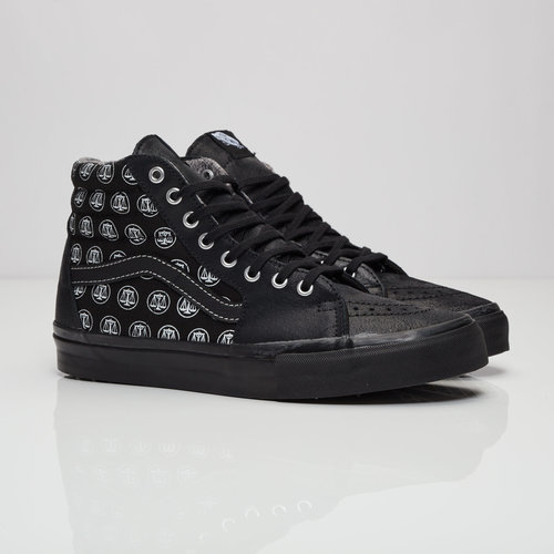 df1ec00148 The Sk8 Hi LX opts for a tonal black colorway from the midsole to the ankle  collar. An oily