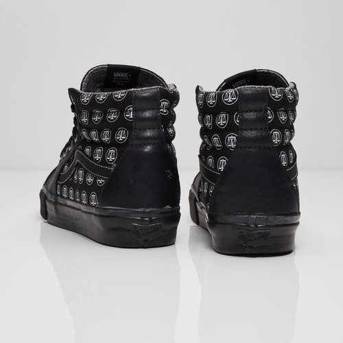 f1efae4fa0 The Sk8 Hi LX opts for a tonal black colorway from the midsole to the ankle  collar. An oily