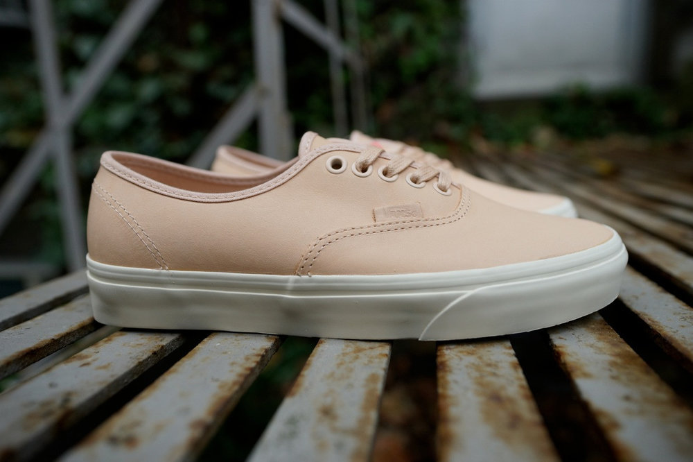 Vans Slip On DX, Authentic DX, and Old Skool DX Veggie Tan Leather