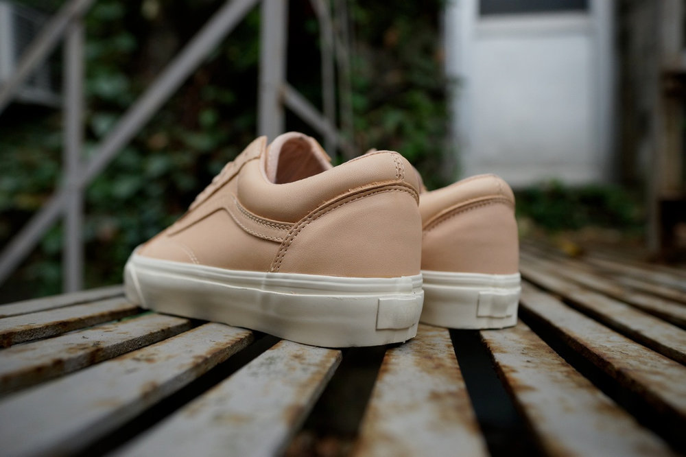 vans old skool dx tan leather