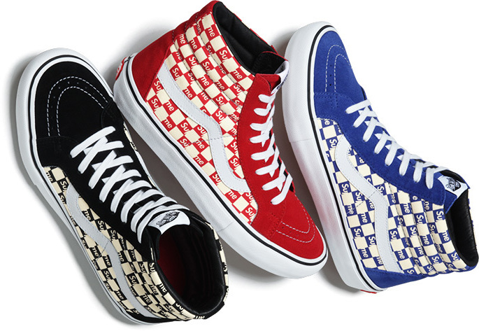 Vans x Supreme Sk8 Hi Pro and Authentic Pro — strictly waffles. 2e95273ff