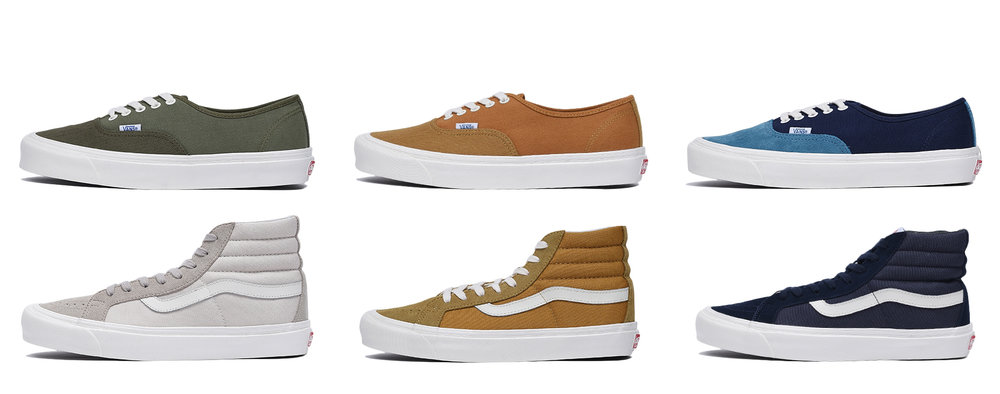 Vault by Vans OG Authentic LX and OG Sk8 Hi LX Spring 2017 Collection