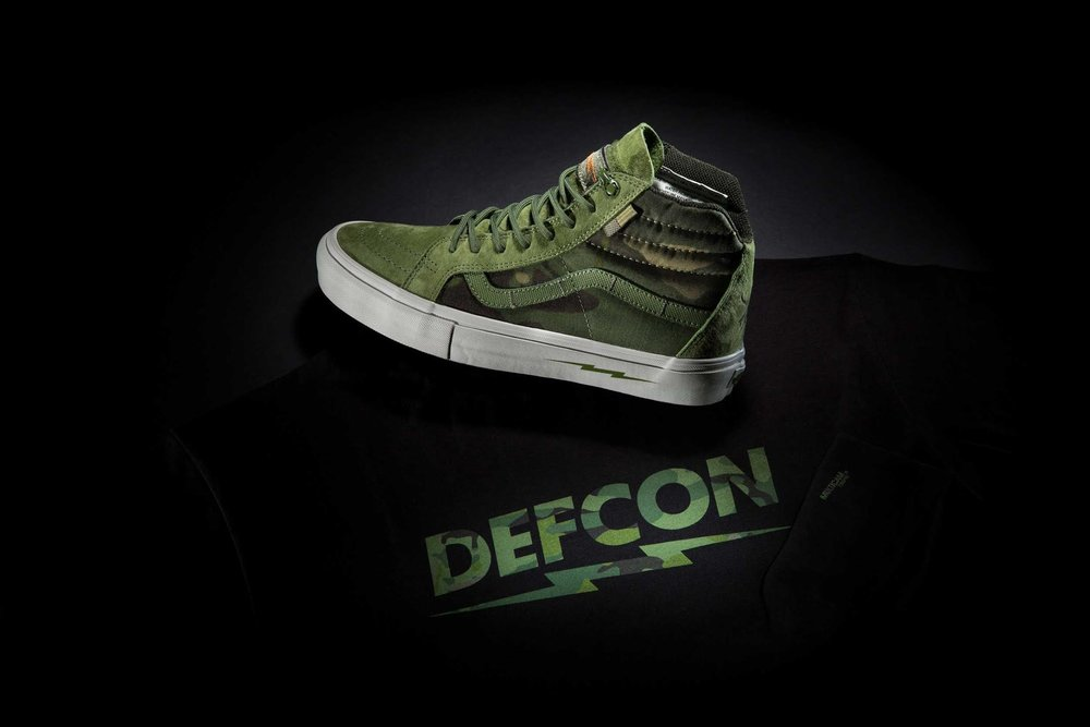 Vans Skate x DEFCON Sk8 Hi Notchback Pro and Apparel