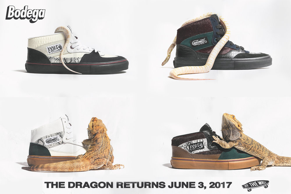 "Vault by Vans x Bodega Half Cab LX and Full Cab LX ""Return of the Dragon"" Collection"