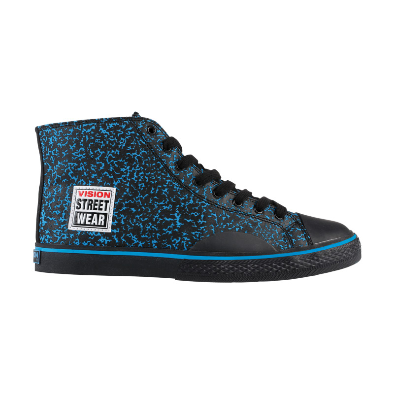 Canvas High // Blue & Black Stipple