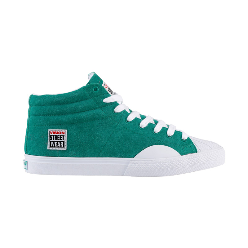 Suede High // Green & White