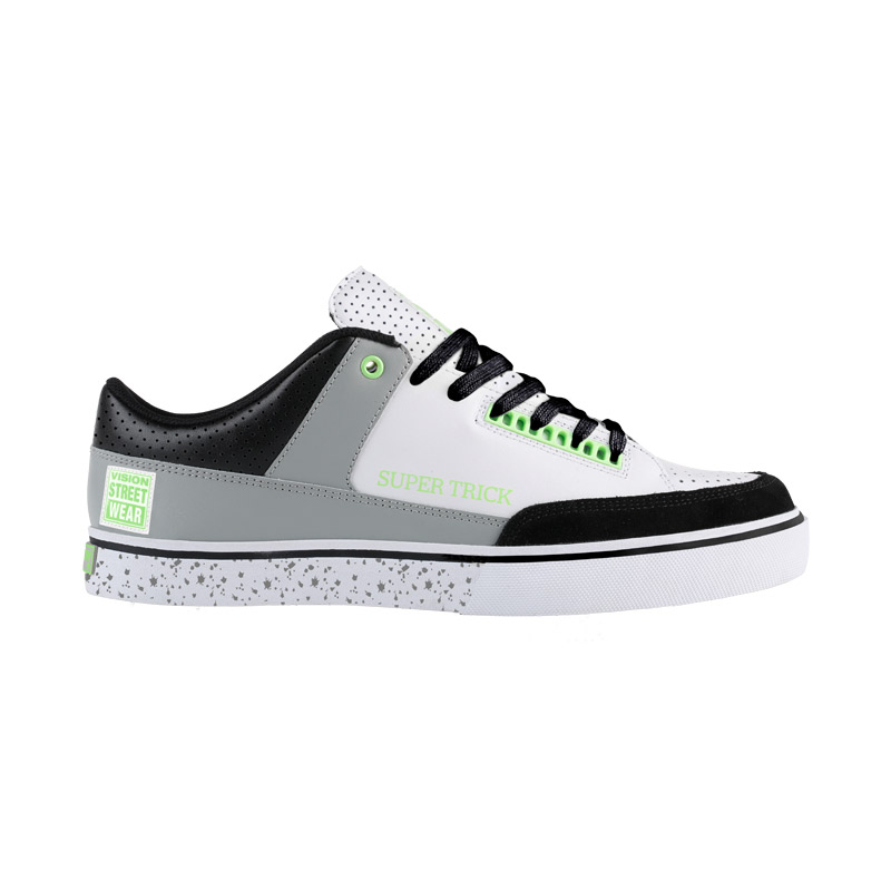 Super Trick Low // White, Green & Grey