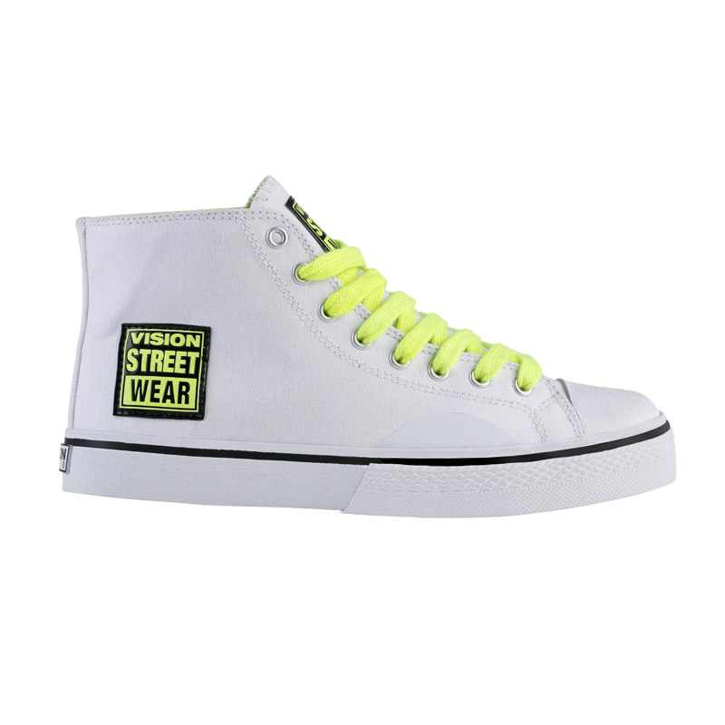 Canvas High // White with Neon