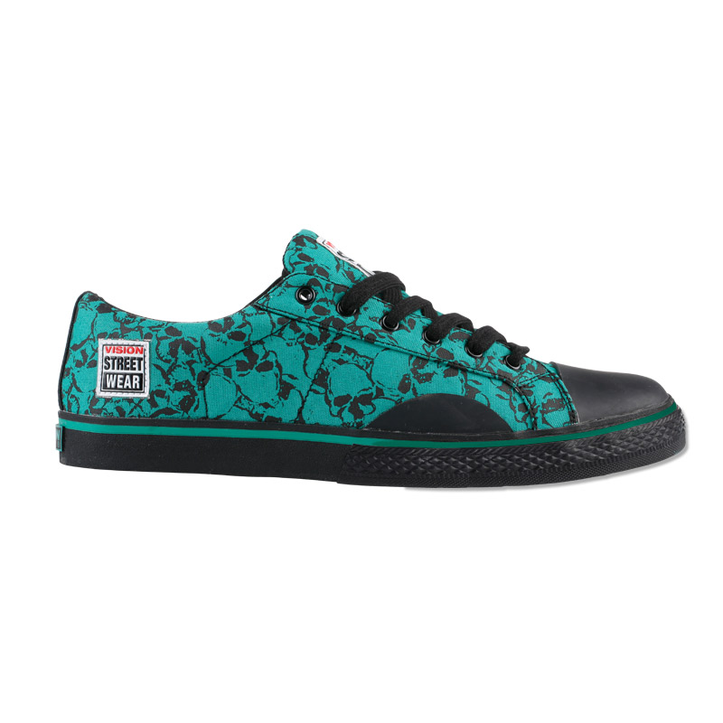 Canvas Low // Green Skull