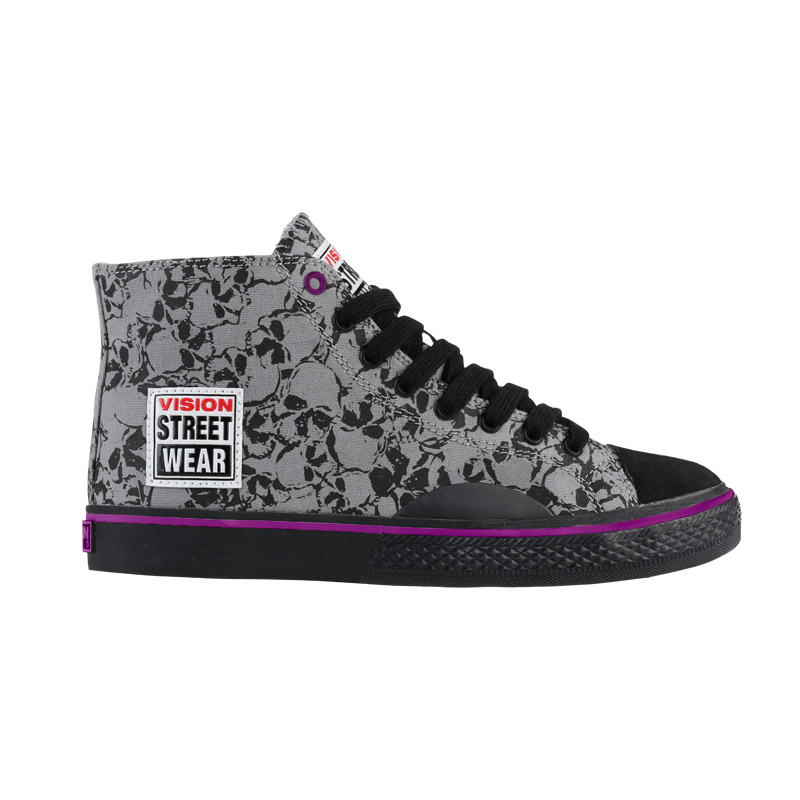 Canvas High // Black Skull Print
