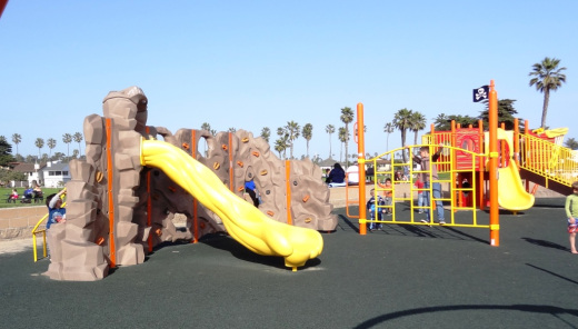 Newer pirate-themed play area at Marina Park (re-done in 2012).