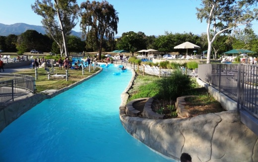 The 1,200 foot long lazy river at Casitas Water Adventure is my kids' favorite.