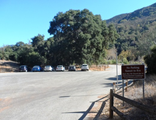 Parking lot access off of Mulholland Highway on northeast side of ranch