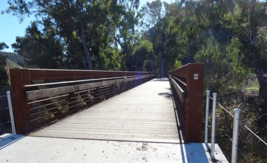 Conejo Canyons Trail Users Bridge that takes you to the Hill Canyon Trail