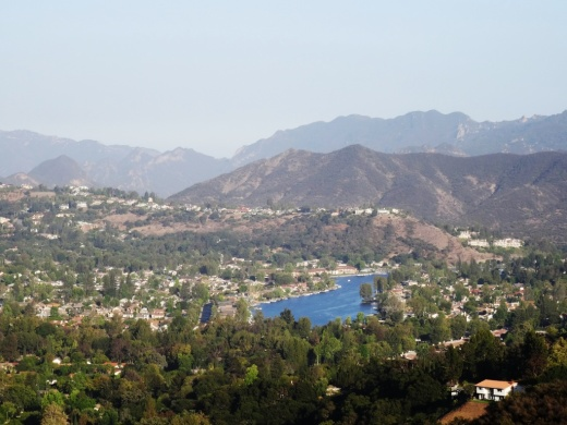 Beautiful views of the Westlake Lake area from the Triunfo Canyon Trail