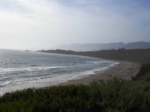 Views from the picnic area at Rincon Beach Park