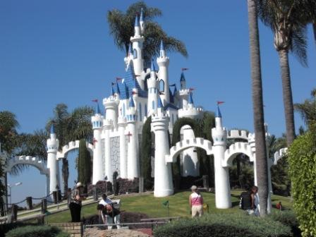 The Famous Golf N' Stuff Castle Seen from 101 Freeway in Ventura