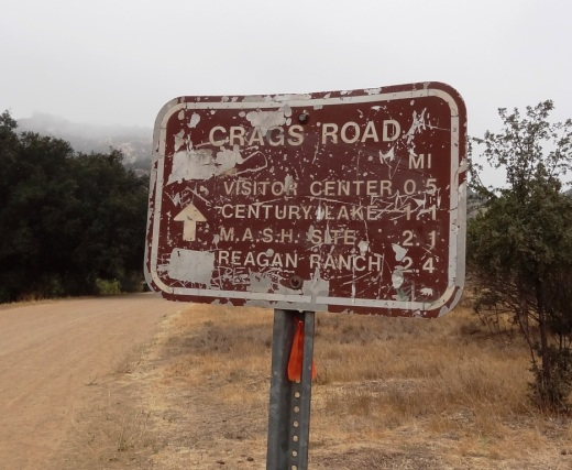 The old M*A*S*H site is about 2 1/2 miles from the parking area.
