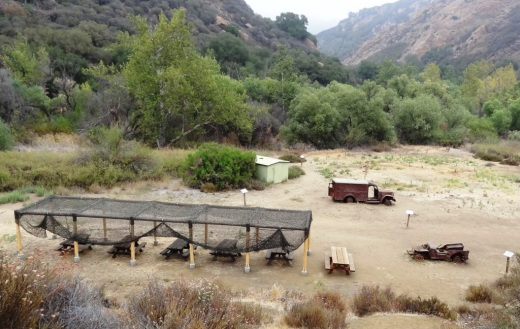 M*A*S*H site with plenty of picnic tables