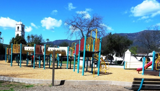 This is a photo of the OLD play structure that was replaced in October 2015.