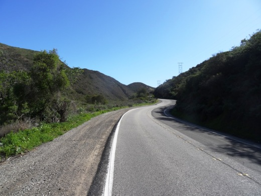 Luckily there's a dirt shoulder next to most of the Potrero Grade