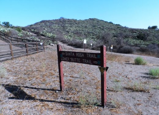 Juncture of Santa Rosa Trail and Lower Butte Trail