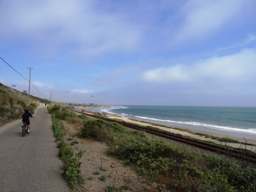 Ventura bike path headed south from Emma Wood State Beach towards Ventura Beach