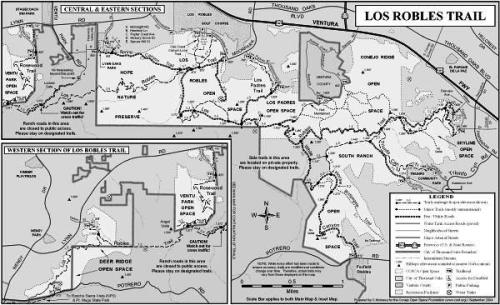 Unless you are an ant, this Los Robles Trail map is too small to read...click it for a full-size pdf map!