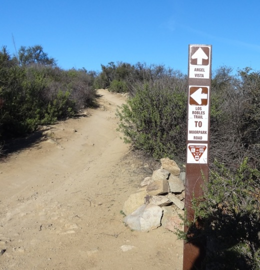 You'll eventually see this sign if you make the trek up the Rosewood Trail.