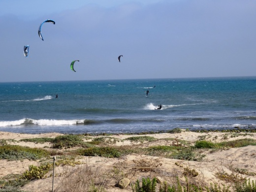 Windsurfers at Surfers' Point in Ventura.