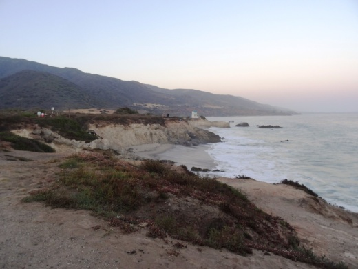 A view from the Leo Carrillo bluffs as the clouds start rolling in