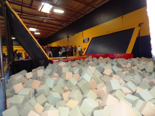 Quite popular with the younger set. Bounce off the walls into a humongous pile of foam cubes.