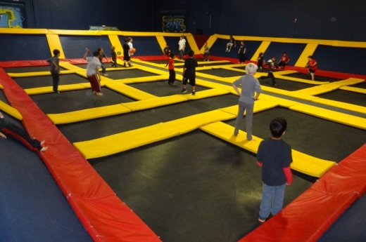 Another extremely popular activity at Sky High is the Dodgeball area, open to players of all ages.