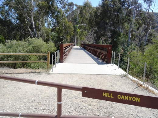 The Hill Canyon bridge that takes you to all the action!