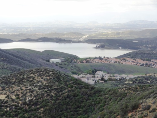 You can get a clear view of Bard Lake (Calleguas Water District Reservoir) back here.